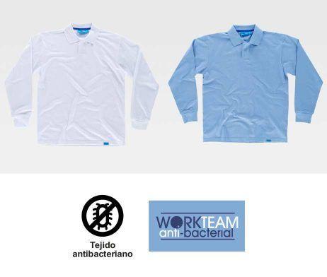 Polo 100% Algodón C3410 Antibacteriana WorkTeam