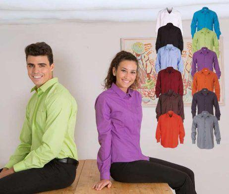camisas de mujer y hombre para trabajar