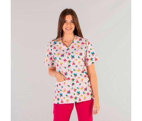 uniforme enfermera dibujos casaca pediatra microfibra