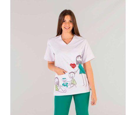 uniformes pediatra microfibra
