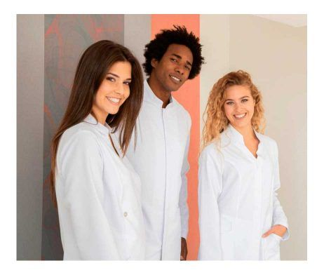 Bata sanitaria mujer en microfibra con pliegue PRISCILA - Garys